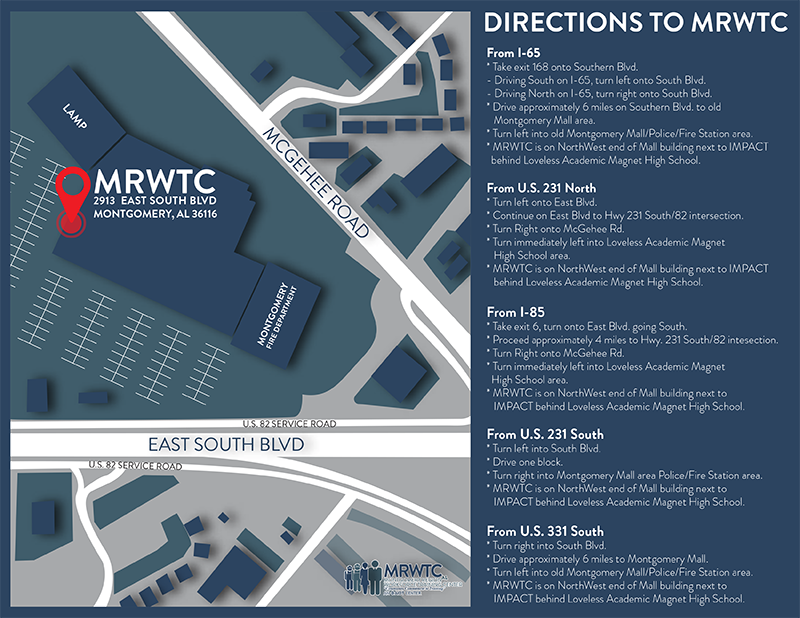 MRWTC Map with directions